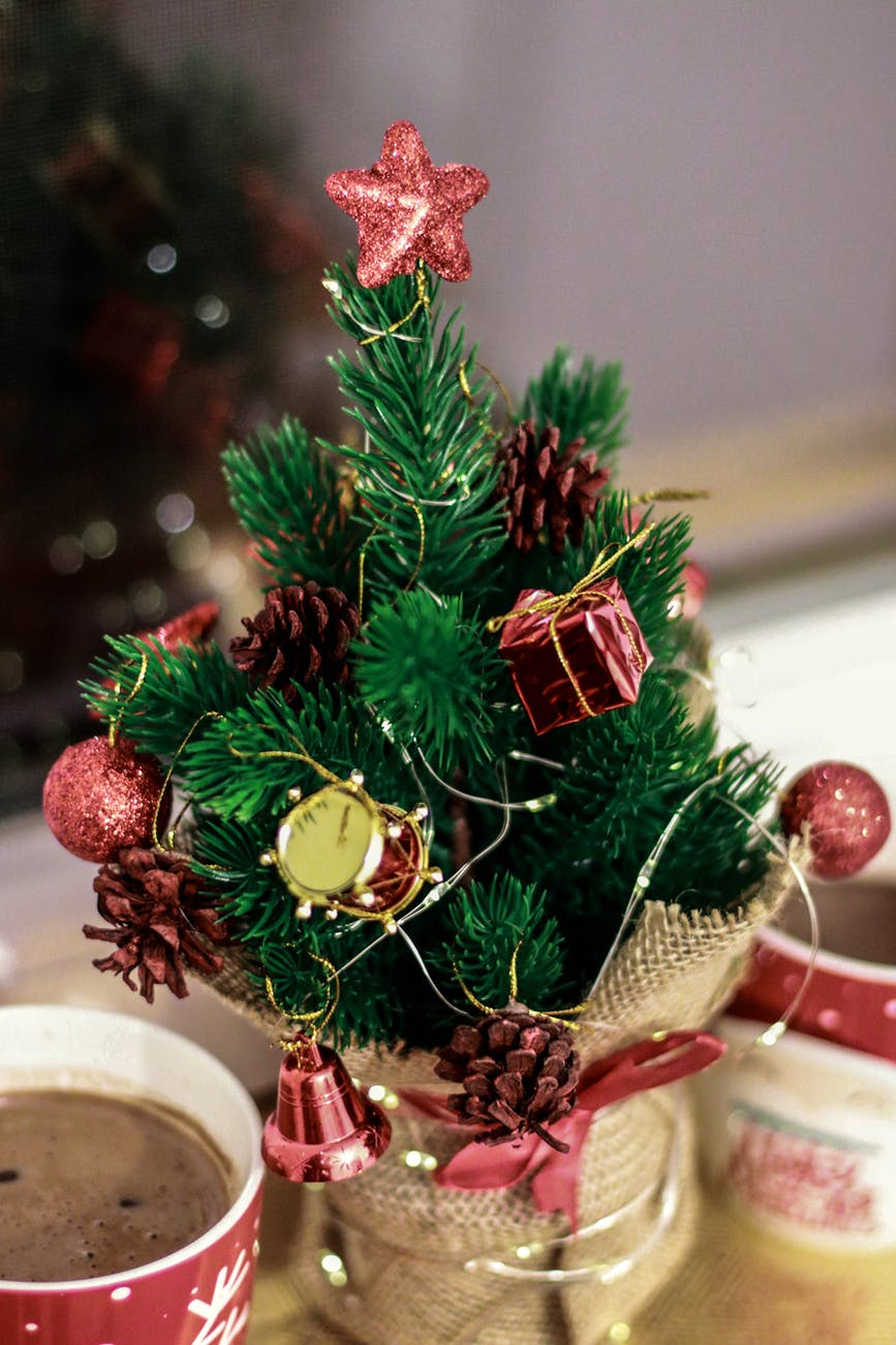 green decorated christmas tree