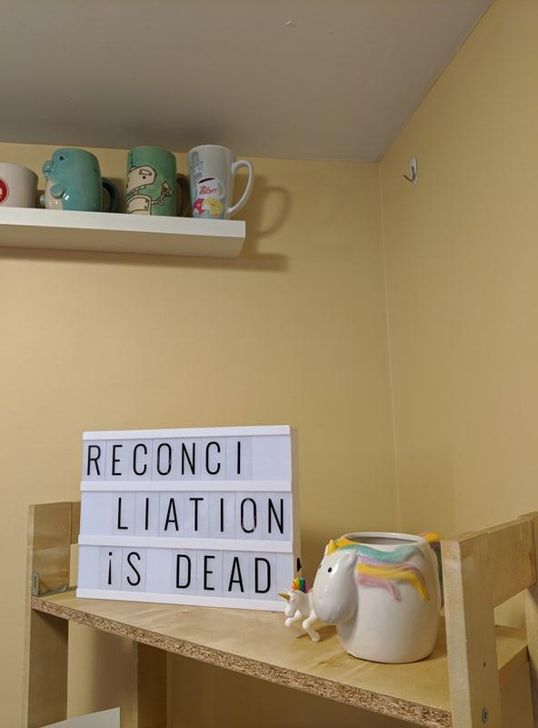 Reconciliation=dead